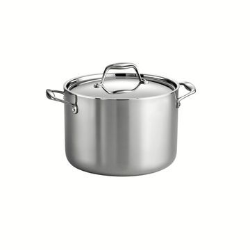 Tramontina Gourmet Tri-Ply Clad 8 Qt Covered Stock Pot