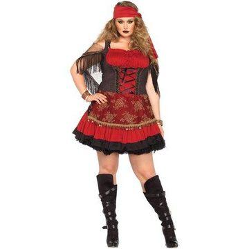 Leg Avenue Women's Plus-Size Mystic Vixen Costume, Burgundy/Black, 1X