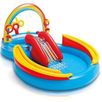 ''Intex Inflatable Kids Pool,Water Play Center w/Slide + Quick Fill Air Pump''