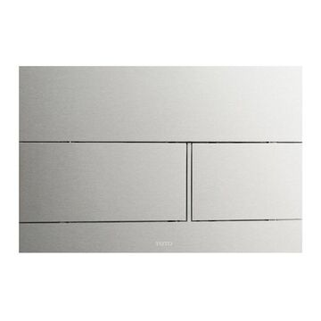 TOTOA Dual Flush Push Button Plate for Select DuoFit In-Wall Tank Unit, Stainless Steel (YT980#SS)