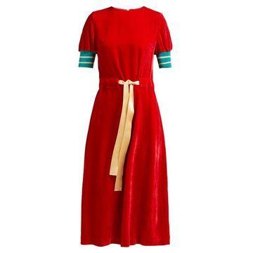 Undercover - Waist Tie Corduroy Dress - Womens - Red