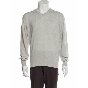 Cashmere V-Neck Pullover Grey