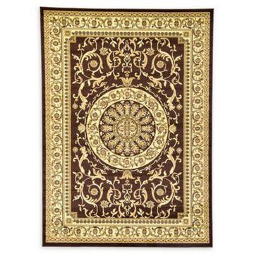 Unique Loom Napoleon Versailles 7' x 10' Area Rug in Brown