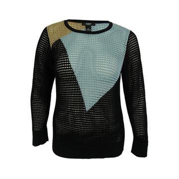 Alfani Women's Mesh-Knit Colorblock Sweater