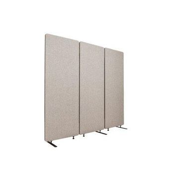 Reclaim Acoustic Room Dividers - 3 Pack of Panels in Misty Gray