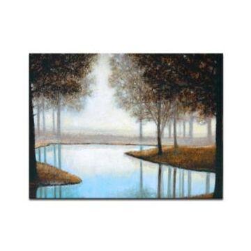 "Ready2HangArt, 'Woodland River' Canvas Wall Art, 30x40"""