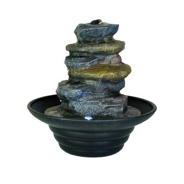 Stacked Rock Water Fountain by Ashland