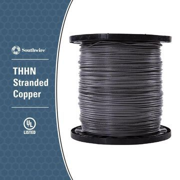 Southwire 2500-ft 14-AWG Grey Copper THHN Wire (By-the-Roll) | 22963306