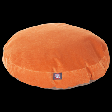 "Majestic Pet Villa Round Dog Bed Velvet Removable Cover Orange Medium 36"" x 36"" x 5"""