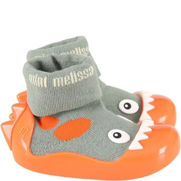 Melissa Multicolor Socks Shoes For Boy With Dragon