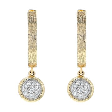 14K Yellow Gold 1/5 ct. TDW Diamonds Earrings by Beverly Hills Charm