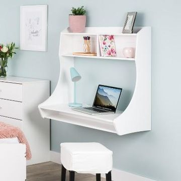 Compact Hanging Desk White - Prepac
