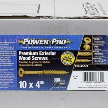 ''The Hillman Group 967782 Power Pro Exterior All Purpose Screw, 10'''' x 4''''''
