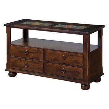 Santa Fe 4-Drawer Sofa Table/Console With Shelf