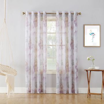Sun Zero Andorra Grommet-Top Curtain Panel