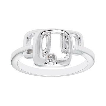 Boston Bay Diamonds Sterling Silver Diamond Accent Geometric Ring, Women's, Size: 8, White