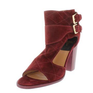 Laurence Dacade Womens Deric Suede Diamond Quilted Evening Heels