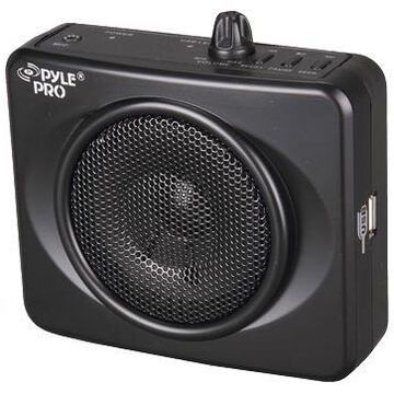 Pyle Waistband Usb Pa Amplifier With Microphone Black