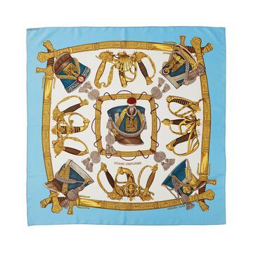 Hermes Grand Uniforme, By Joachim Metz Silk Scarf (Authentic Pre-Owned)