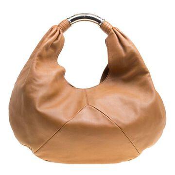 Bvlgari Brown Leather Hobo