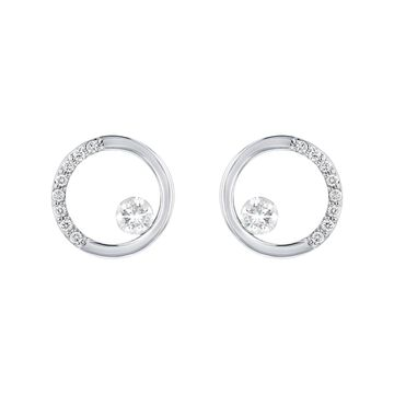14K White Gold 1/4 ct. TDW Diamonds Earrings by Beverly Hills Charm