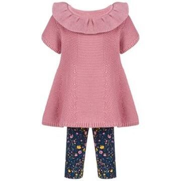 First Impressions Baby Girls Short Sleeve Sweater Tunic Set, Created for Macy's