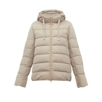 Herno - Hooded Quilted Down Jacket - Womens - Beige