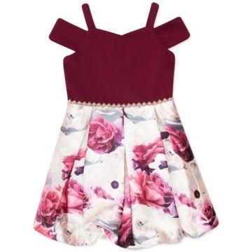 Speechless Little Girls Cold-Shoulder Bubble Dress