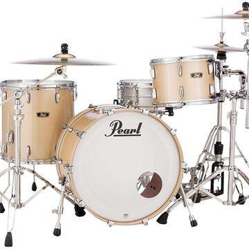 Vintage Hybrid Wood Fiberglass Series 3-Piece Shell Pack with 22 in. Bass Drum Platinum Mist