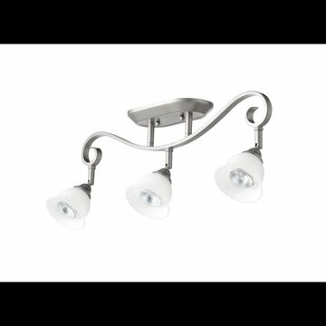 Quorum International 3853-3 Celesta 3 Light Semi-Flush Ceiling Fixture Classic Nickel Indoor Lighting Ceiling Fixtures Semi-Flush