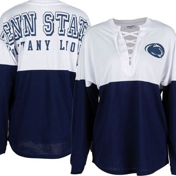 ZooZatz Women's Penn State Nittany Lions Blue Clearblock Long Sleeve T-Shirt
