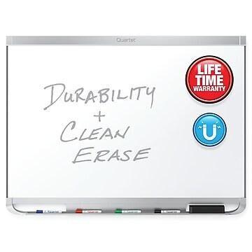 Quartet Prestige 2 DuraMax Porcelain Dry-Erase Whiteboard, Aluminum (Silver) Frame, 8' x 4' (P558AP2)