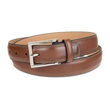 Stafford Men's Dress Belt with Double Stitched Edge