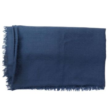 Gucci Navy Wool Scarves