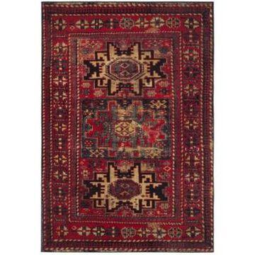 """Safavieh Vintage Hamadan Red and Multi 5'3"""" x 7'6"""" Area Rug"""