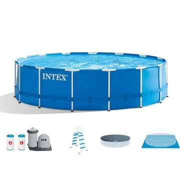 Intex Metal Frame 18-ft x 18-ft x 48-in Round Above-Ground Pool | 84496