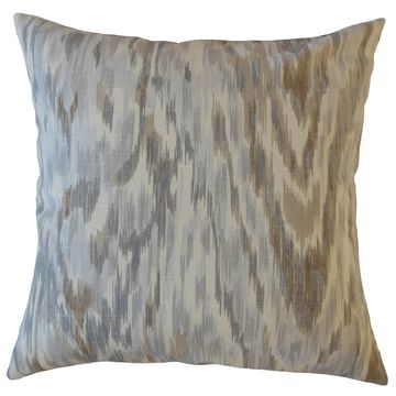 The Pillow Collection Wiebke Ikat Decorative Throw Pillow