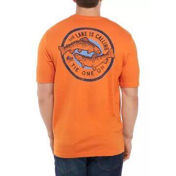 Izod Men's Big & Tall Saltwater Graphic T-Shirt - -