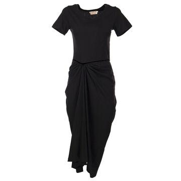Marni Draped Cotton Jersey Dress