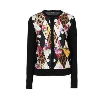 Dolce & Gabbana - Montage-print Cashmere-blend Cardigan - Womens - Black Multi
