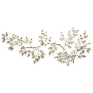 Stratton Home Decor Flowing Leaves Wall Sculpture in Brushed Gold