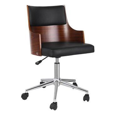 Porthos Home Office Chair With PVC Upholstery, Adjustable Height, 360-degree Swivel And Chrome Steel Legs - Various Colors
