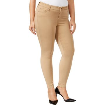 Celebrity Pink Womens Plus Jayden Colored Mid-Rise Skinny Jeans