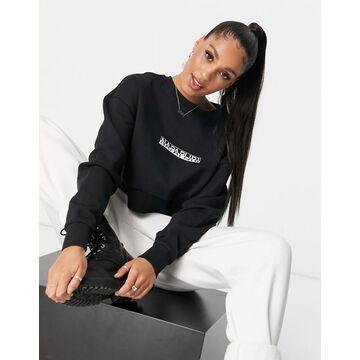 Napapijri Box cropped sweatshirt in black
