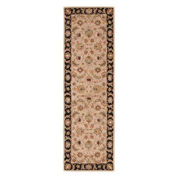 Jaipur Living Selene Handmade Floral Beige/Black Runner Rug, 4'x16'