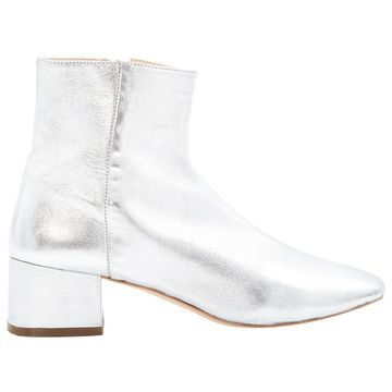 Loeffler Randall Silver Leather Boots