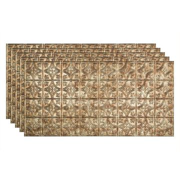 Fasade 48-in x 24-in Traditional 1 5-Pack Bermuda Bronze Patterned Surface-Mount Ceiling Tiles