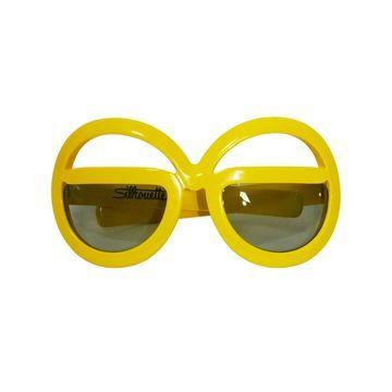 Silhouette Yellow Plastic Sunglasses