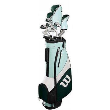 Wilson Golf Profile SGI Teal Women's Golf Complete Set w/ Cart Bag (Left Handed)