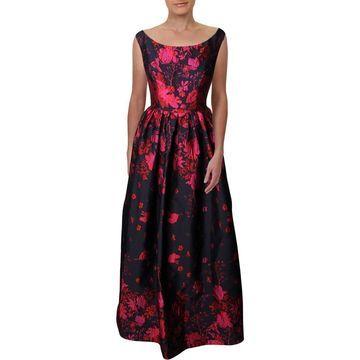 Carmen Marc Valvo Womens Evening Dress Brocade Sleeveless